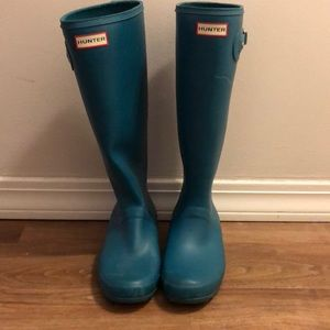Hunter boots teal